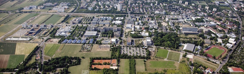 Aerial picture of JGU campus
